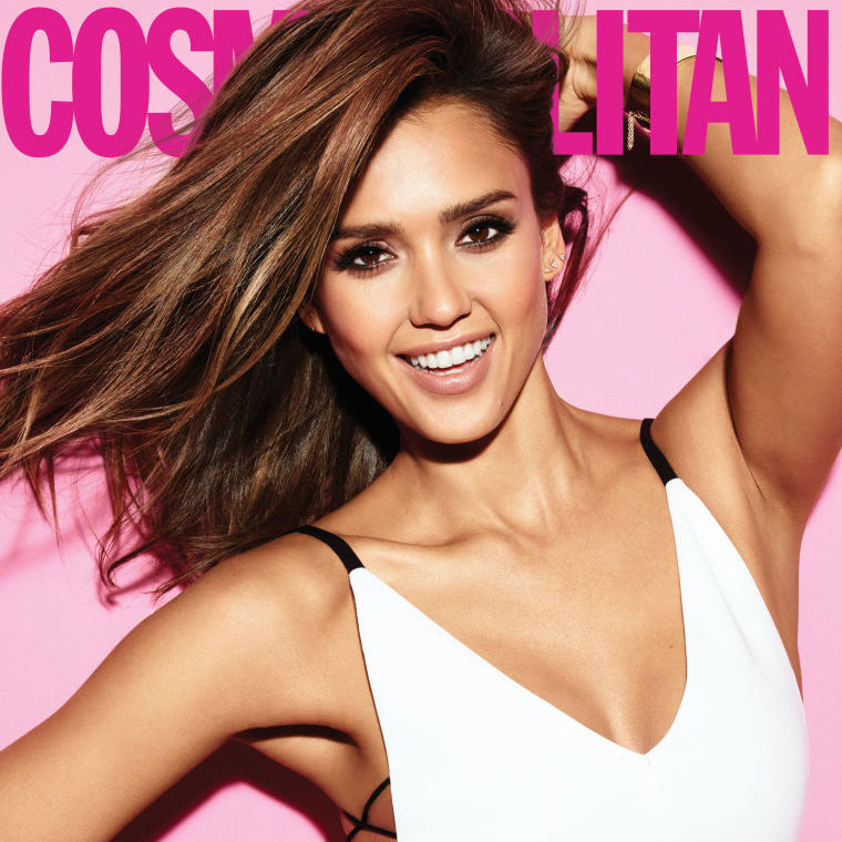 Jessica Alba on the front cover of Cosmopolitan UK February 2016 edition
